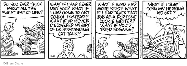 Comic Strip Brian Crane  Pickles 2009-10-13 Rogaine