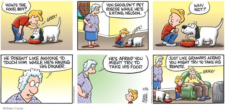 Comic Strip Brian Crane  Pickles 2009-10-18 might