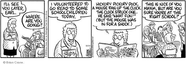 Comic Strip Brian Crane  Pickles 2009-10-23 teacher