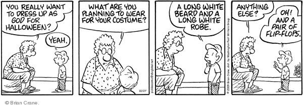 Comic Strip Brian Crane  Pickles 2009-10-27 dressing