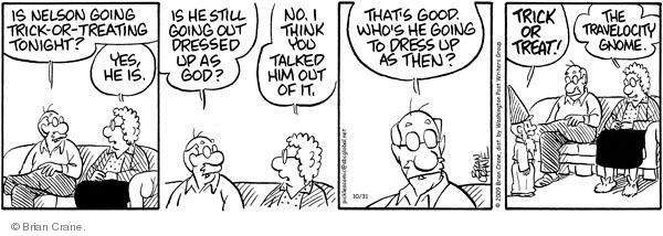 Comic Strip Brian Crane  Pickles 2009-10-31 dressing