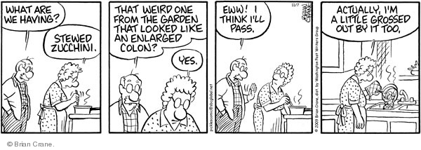 Comic Strip Brian Crane  Pickles 2009-11-07 zucchini