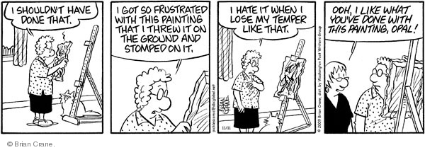 Comic Strip Brian Crane  Pickles 2009-11-11 frustration
