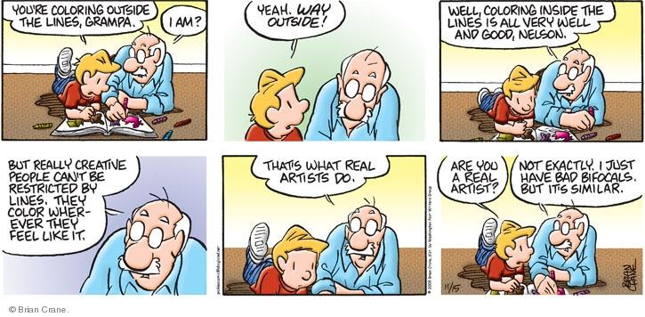 Comic Strip Brian Crane  Pickles 2009-11-15 grandson