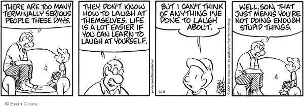 Comic Strip Brian Crane  Pickles 2009-11-18 easier