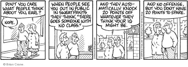 Comic Strip Brian Crane  Pickles 2009-11-24 attire