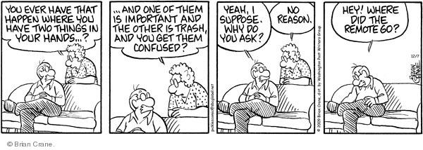 Comic Strip Brian Crane  Pickles 2009-12-07 forgetfulness
