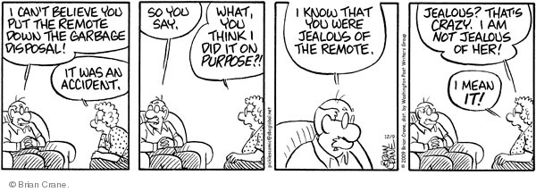 Comic Strip Brian Crane  Pickles 2009-12-09 garbage can