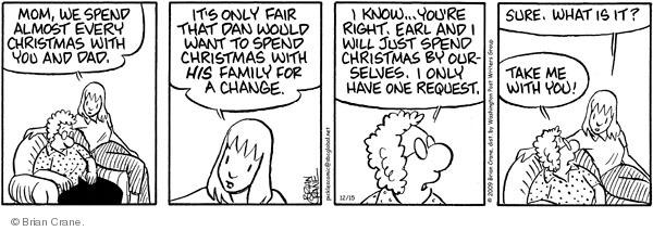 Comic Strip Brian Crane  Pickles 2009-12-15 mom