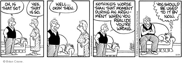 Comic Strip Brian Crane  Pickles 2009-12-19 husband