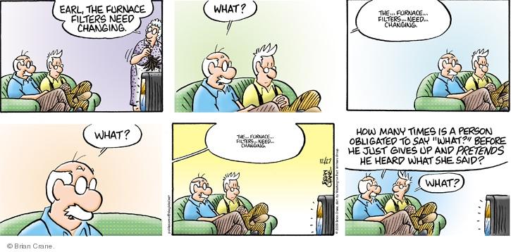 Comic Strip Brian Crane  Pickles 2009-12-27 hear
