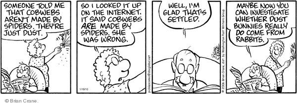 Comic Strip Brian Crane  Pickles 2010-01-18 spider