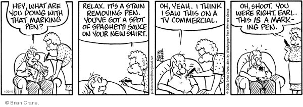 Comic Strip Brian Crane  Pickles 2010-01-20 new shirt