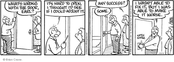 Comic Strip Brian Crane  Pickles 2010-01-23 home repair