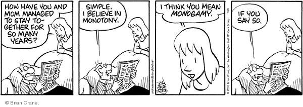 Comic Strip Brian Crane  Pickles 2010-01-26 mom