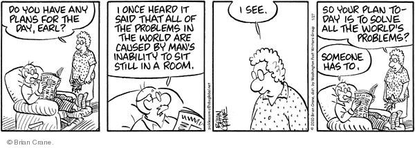Comic Strip Brian Crane  Pickles 2010-01-27 hear