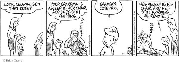 Comic Strip Brian Crane  Pickles 2010-02-04 unconscious
