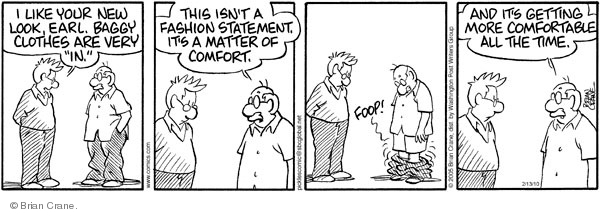 Comic Strip Brian Crane  Pickles 2010-02-13 comfortable clothes