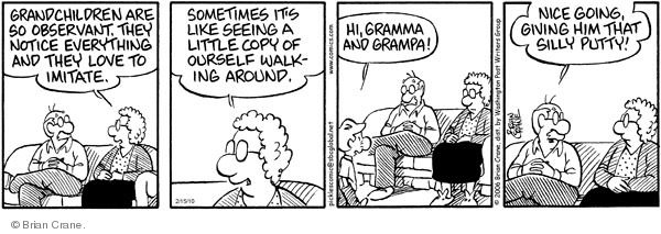 Comic Strip Brian Crane  Pickles 2010-02-15 big nose