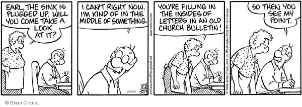 Comic Strip Brian Crane  Pickles 2010-02-16 church