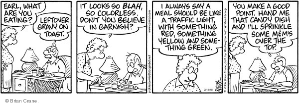 Comic Strip Brian Crane  Pickles 2010-02-18 red