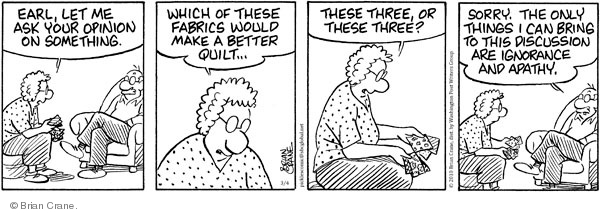 Comic Strip Brian Crane  Pickles 2010-03-04 discussion