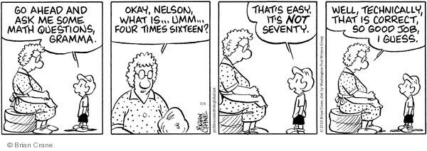 Comic Strip Brian Crane  Pickles 2010-03-06 math