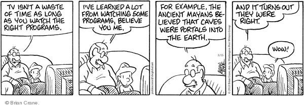 Cartoonist Brian Crane  Pickles 2010-03-15 waste time