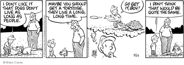 Comic Strip Brian Crane  Pickles 2010-03-23 lifespan