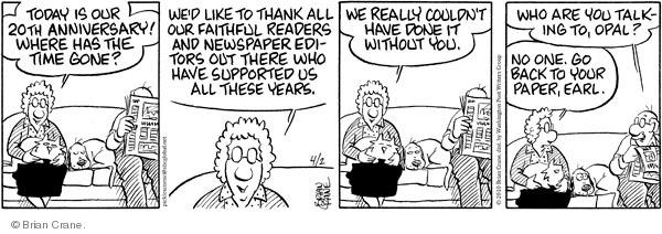Comic Strip Brian Crane  Pickles 2010-04-02 support