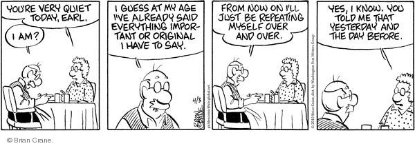 Comic Strip Brian Crane  Pickles 2010-04-03 original