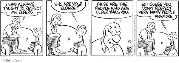 Comic Strip Brian Crane  Pickles 2010-04-06 elder
