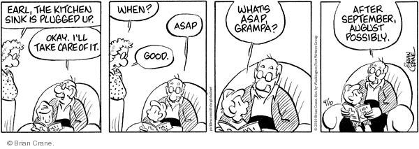 Comic Strip Brian Crane  Pickles 2010-04-10 grandpa