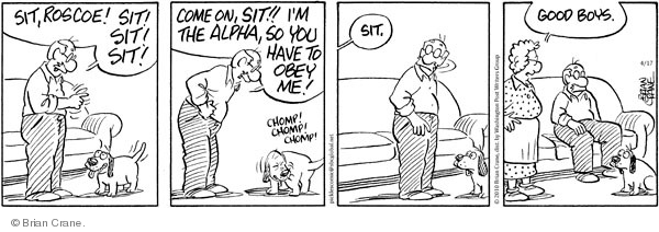 Comic Strip Brian Crane  Pickles 2010-04-17 dog training