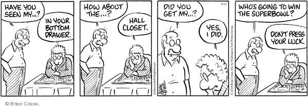 Comic Strip Brian Crane  Pickles 2010-04-23 husband