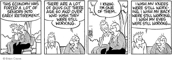 Comic Strip Brian Crane  Pickles 2010-04-24 retirement age