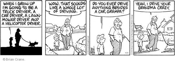Comic Strip Brian Crane  Pickles 2010-04-26 driving crazy