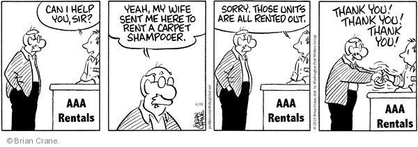 Comic Strip Brian Crane  Pickles 2010-04-28 rent