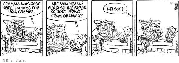Comic Strip Brian Crane  Pickles 2010-05-11 not listening