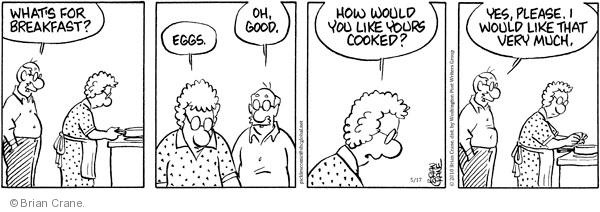 Comic Strip Brian Crane  Pickles 2010-05-17 breakfast food