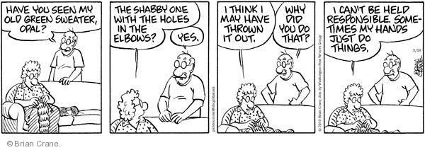 Comic Strip Brian Crane  Pickles 2010-05-18 responsible