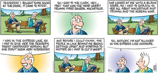 Comic Strip Brian Crane  Pickles 2010-05-23 line