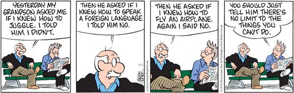 Comic Strip Brian Crane  Pickles 2010-06-03 grandson