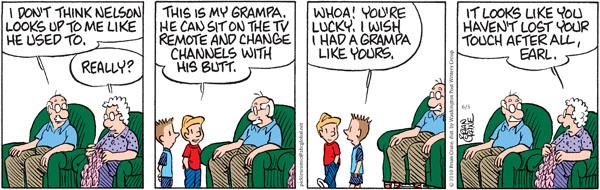 Comic Strip Brian Crane  Pickles 2010-06-05 grandson