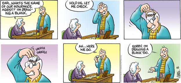 Comic Strip Brian Crane  Pickles 2010-06-06 memory