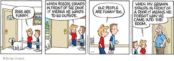 Comic Strip Brian Crane  Pickles 2010-06-10 loss
