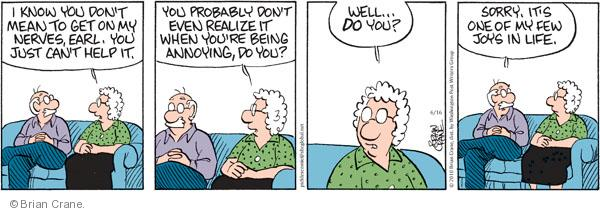 Comic Strip Brian Crane  Pickles 2010-06-16 married couple