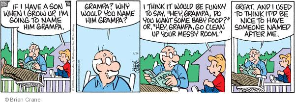 Comic Strip Brian Crane  Pickles 2010-06-26 grandson