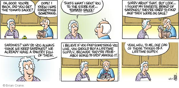 Comic Strip Brian Crane  Pickles 2010-06-27 husband