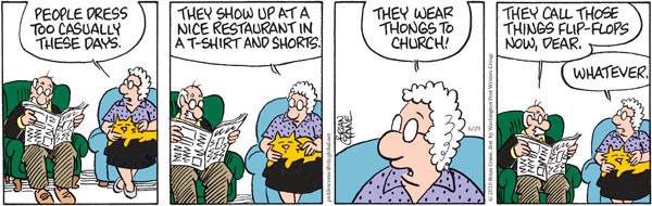 Comic Strip Brian Crane  Pickles 2010-06-29 casual day